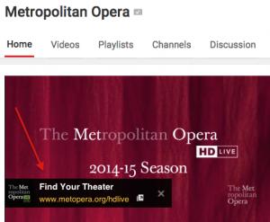 Met Opera YouTube Channel